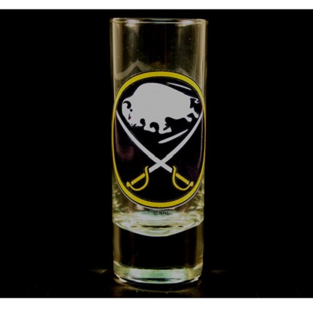 "Buffalo Sabres NHL ""Hype"" Tall Shot Glass"
