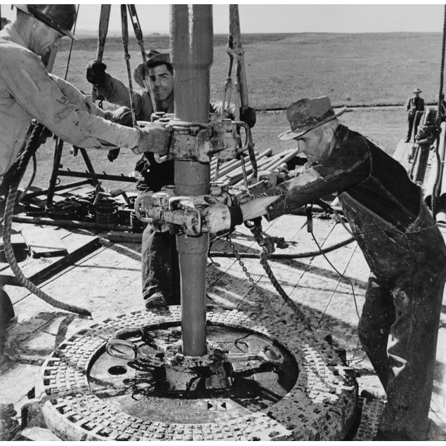 Oklahoma: Oil Well, C1944. /N'Wildcat' Oil Drillers, Independent Of An Oil
