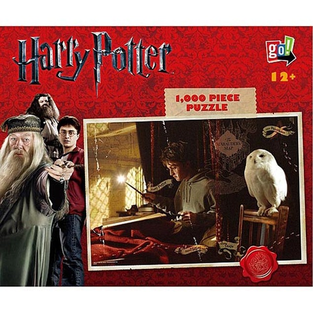 Harry Potter Marauder's Map 1000 Piece Puzzle, Fantasy Movies by Go! Games