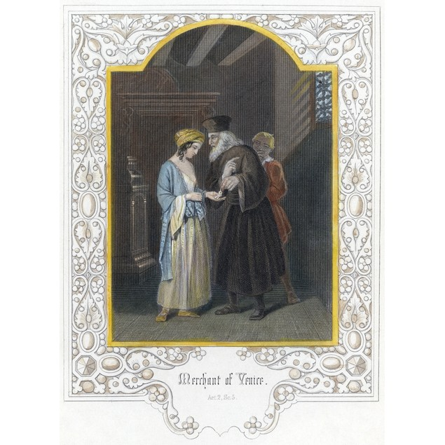 Shakespeare: Merchant Of Venice. Shylock Entrusting Jessica With His Keys.