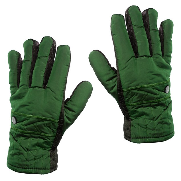 2-Pair Combo: Men's Sherpa Lined Winter Gloves