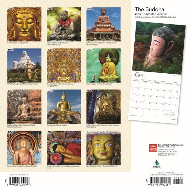 Buddha Wall Calendar, Eastern Religion by Calendars