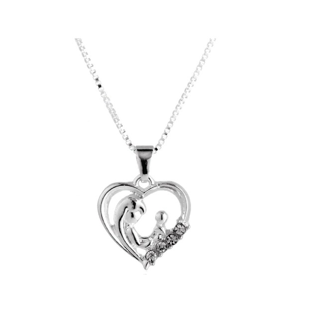 Novadab Mother And Child Silver Necklace