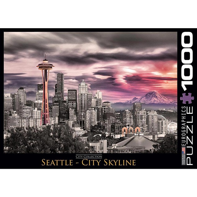Seattle City Skyline 1000 Piece Puzzle, Seattle by Eurographics