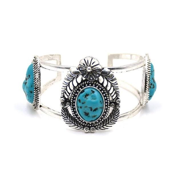 Novadab Antique Turquoise Blossom Bracelet