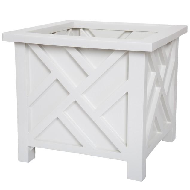 Pure Garden Box Planter - White