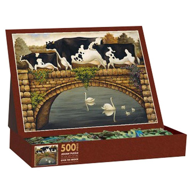 Lowell Herrero Over the Bridge 500 Piece Puzzle, 500 Piece Puzzles by Lang
