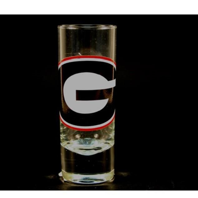 "Georgia Bulldogs NCAA ""Hype"" Tall Shot Glass"