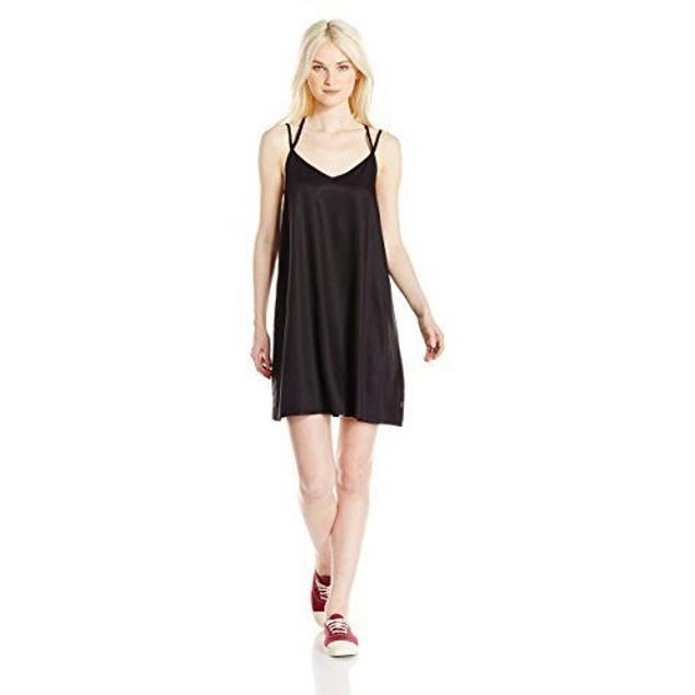 RVCA Junior's Naveena Strappy Tank Dress, Black, SZ: SMALL