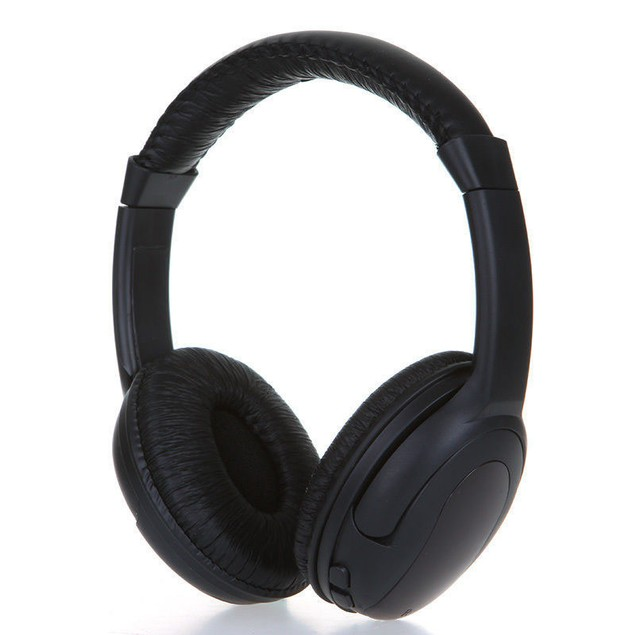 5in1 Hi-Fi Wireless Headphones Headset for PC Laptop TV FM Radio MP3