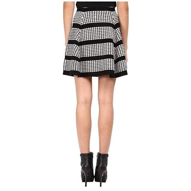 McQ Women's 3D Stitch Flirty Skirt Off White/Black LG