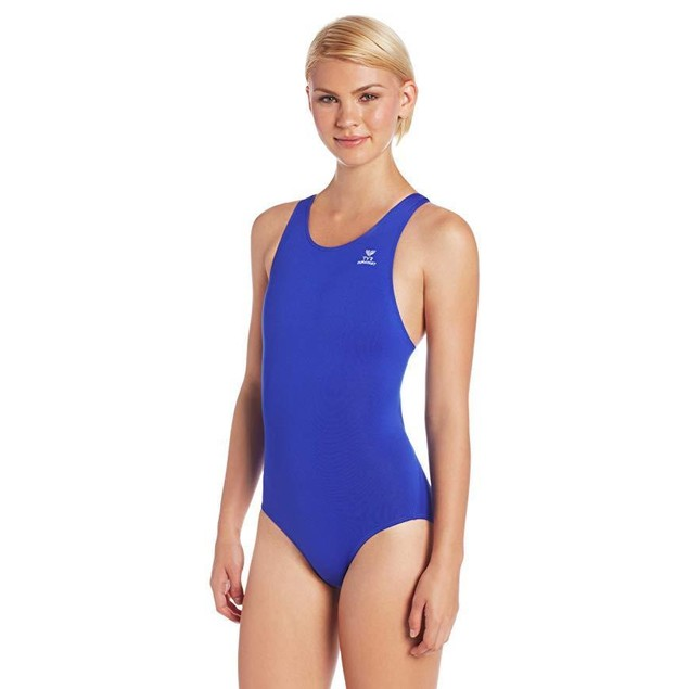 TYR Women's Durafast Elite Solid Maxfit Swimsuit (Royal, Size 40)