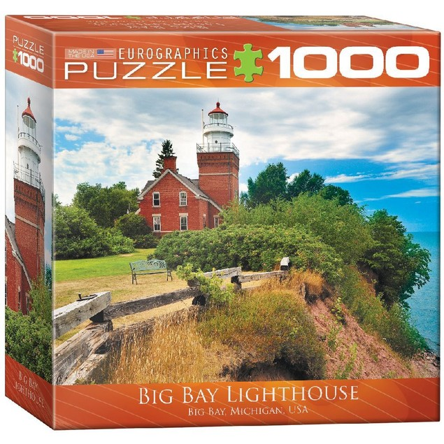 Big Bay Lighthouse 1000 Piece Puzzle, 1,000 Piece Puzzles by Eurographics