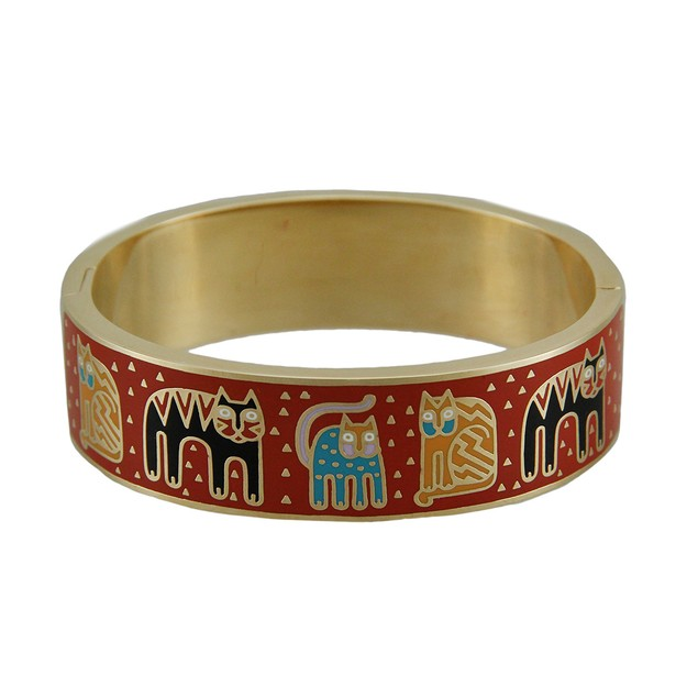 Laurel Burch Fantasticats Colorful Cloisonne Red Womens Bracelets