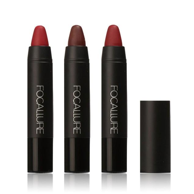 FOCALLURE Long-lasting Red Matte Lipstick Crayon Trio