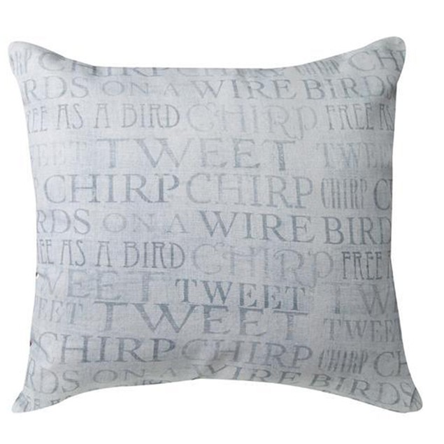 Pair Of Usual Suspects Yellow Birds On Wire 18In. Throw Pillows