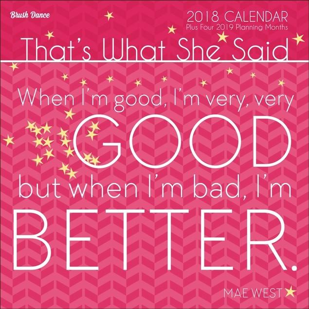 Thats What She Said Mini Wall Calendar, More Moms & Babies by Calendars