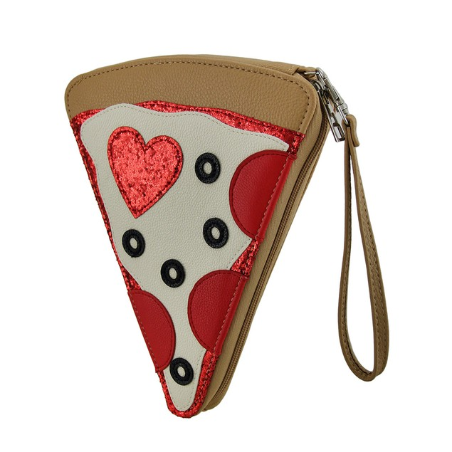 Novelty Pepperoni Pizza Party Slice Purse
