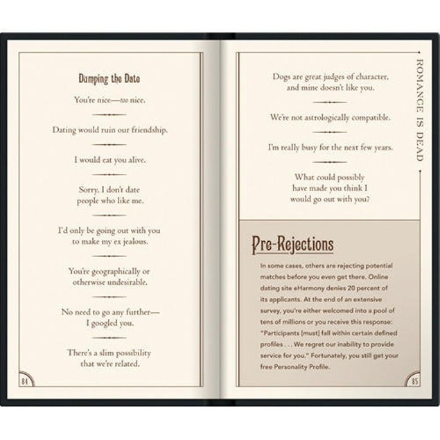 Breakups & Rejections Book, Satire by Who's There, Inc.