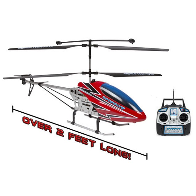 3.5ch Sparrow Remote Control Gyro Helicopter (2.5 feet)