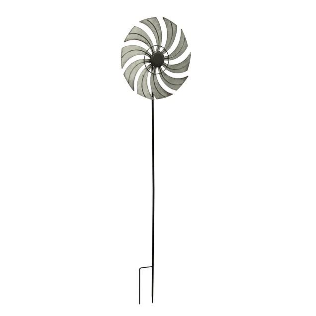 Distressed Metal Windmill Garden Stake Wind Garden Stakes