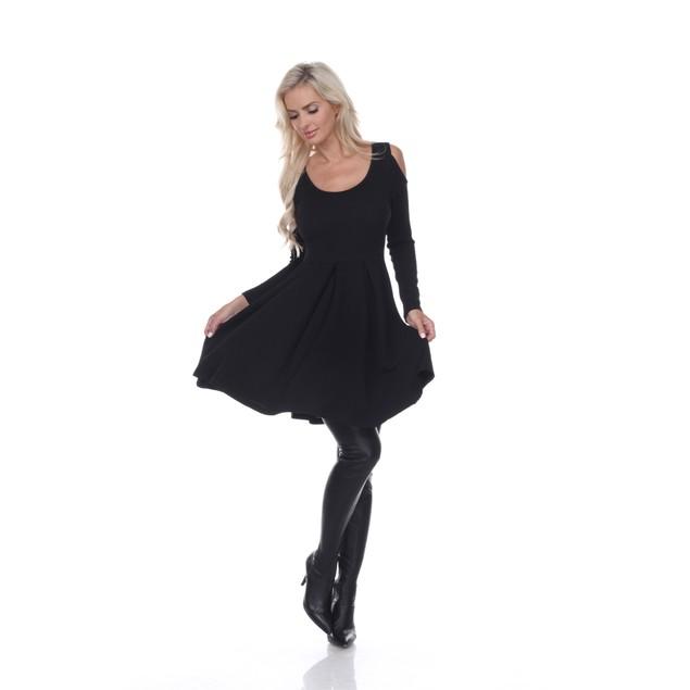 White Mark Cold Shoulder Nettie Dress