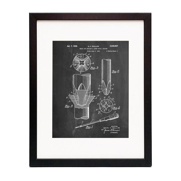 Phillips Head Screw Driver Patent Poster