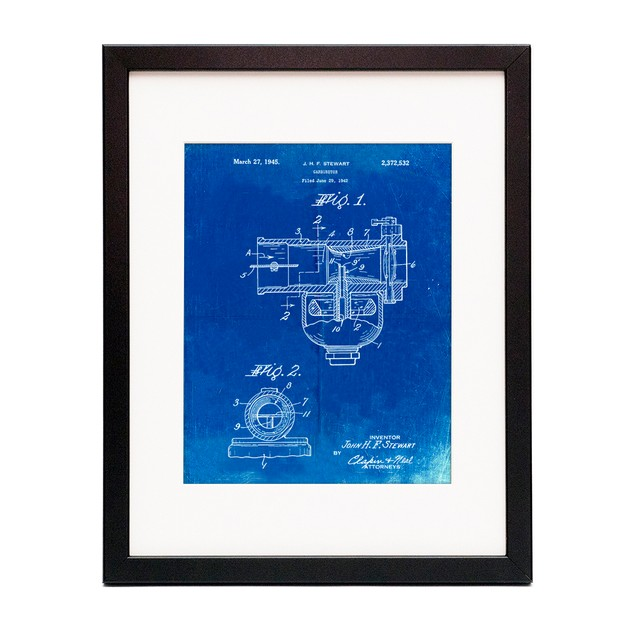 Indian Motorcycle Carburetor Patent Poster