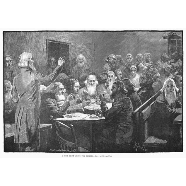 German Baptist Brethren. /N'A Love Feast Among The Dunkers' At Ephrata, Pen