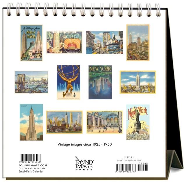 New York City Nostalgic Easel Calendar, New York City by Calendars