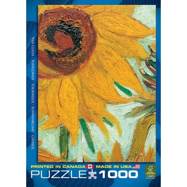 Twelve Sunflowers Van Gogh 1000 Piece Puzzle, 1,000 Piece Puzzles by Eurogr