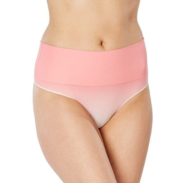 SPANX Everyday Shaping Thong, S, Watermelon Ombre