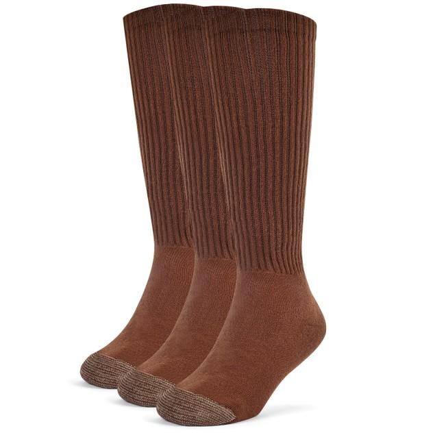 Galiva Boys' Cotton Extra Soft Over the Calf Cushion Socks - 3 Pairs