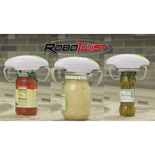 Robo Twist Jar Opener - The One Touch Electric Jar Opener - As Seen on TV