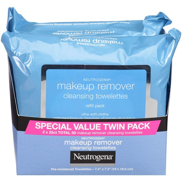 Neutrogena Makeup Removing Wipes, 25 Count.