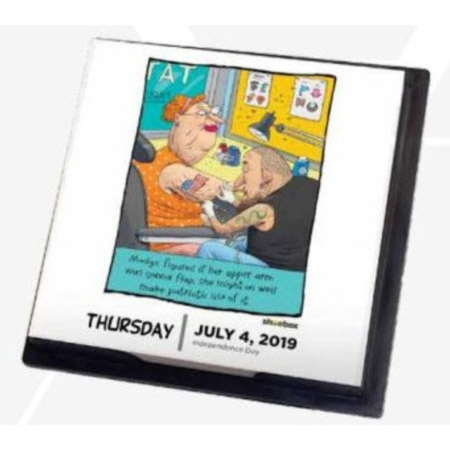 Shoebox Desk Calendar, Women's Humor by TF Publishing
