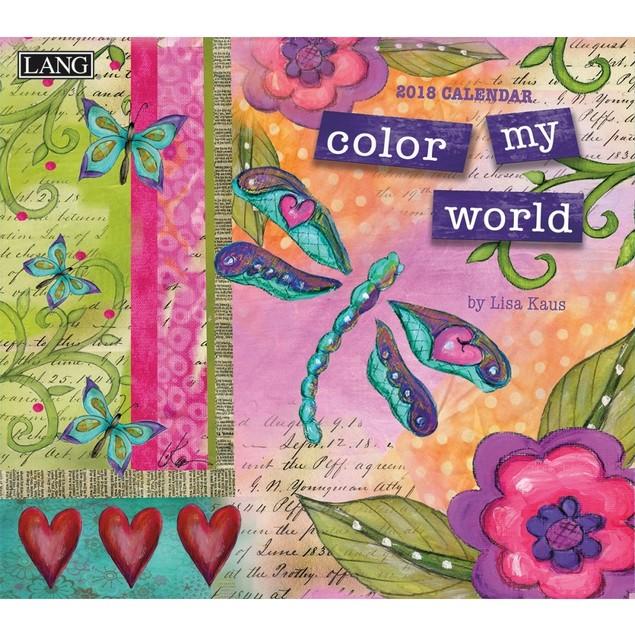 Color My World Wall Calendar, Lang Folk Art by Calendars