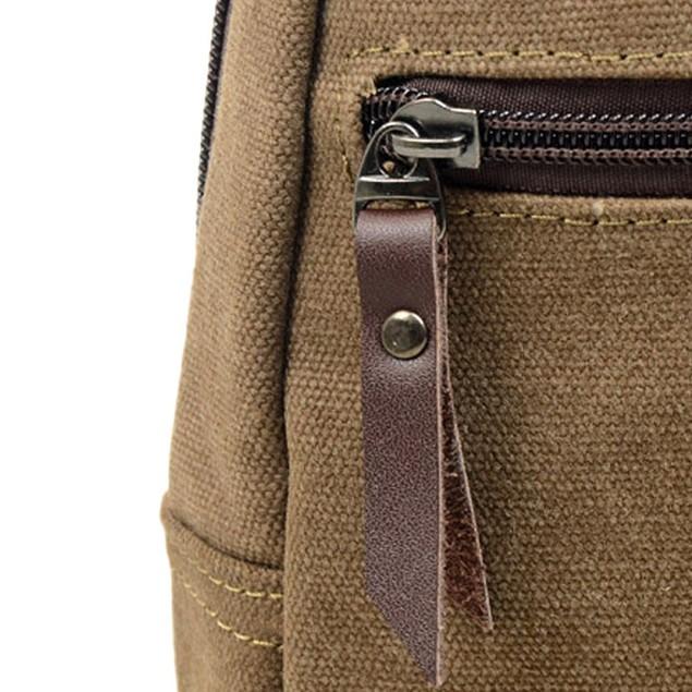Men's Canvas Crossbody Shoulder Bag - Assorted Colors