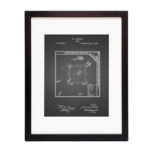 Our National Ball Game Patent Poster