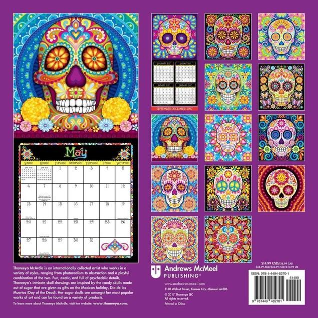 Sugar Skulls Wall Calendar, Fantasy Art by Calendars