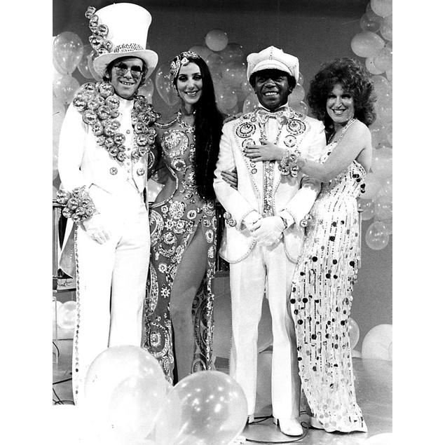 Elton John, Cher, Bette Midler, and Flip Wilson Poster
