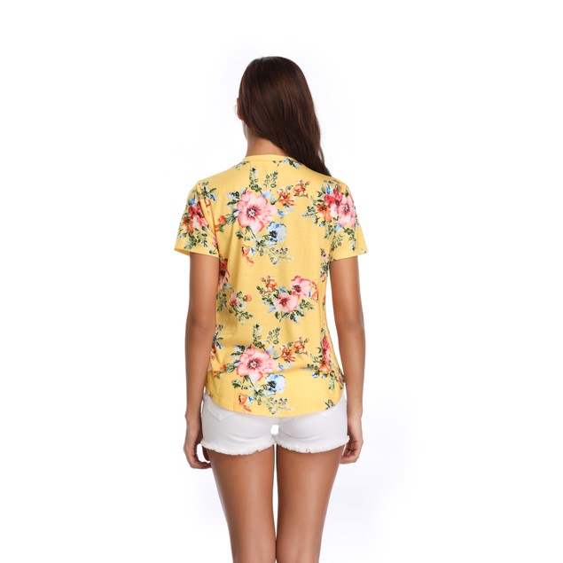 Women's Pastel Flower Print Top