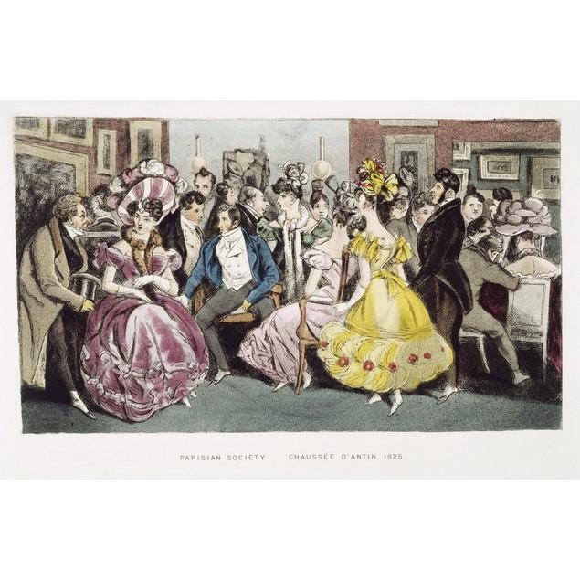 Parisian Salon, 1825. /Na Parisian Salon In The Chaussee D'Antin, C1825. Co