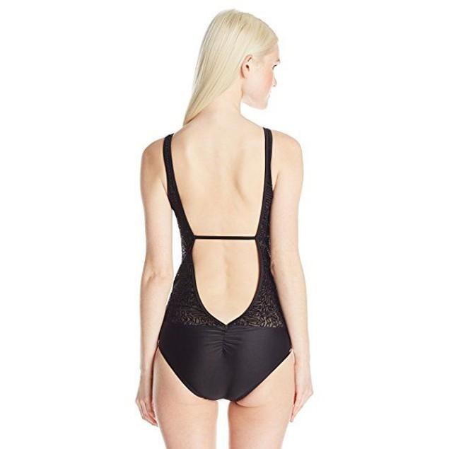 Body Glove Women's View Point One Piece Swimsuit, Black, SZ LARGE