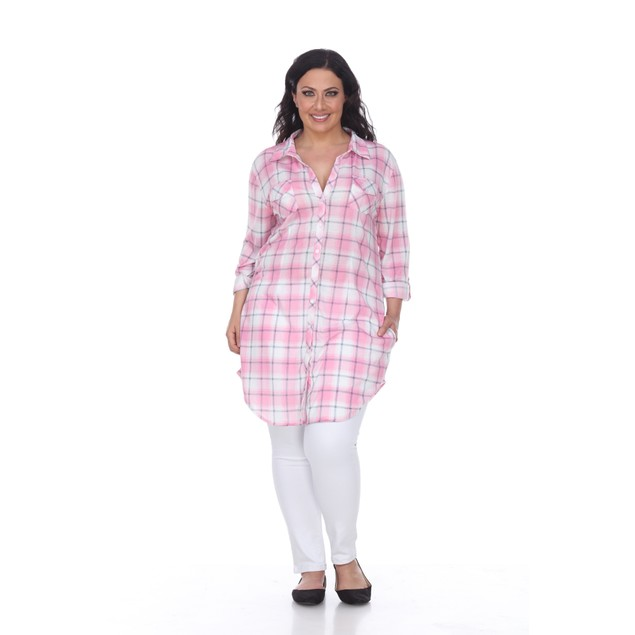 Piper Stretchy Plaid Tunic Top - 11 Colors - Extended Styles