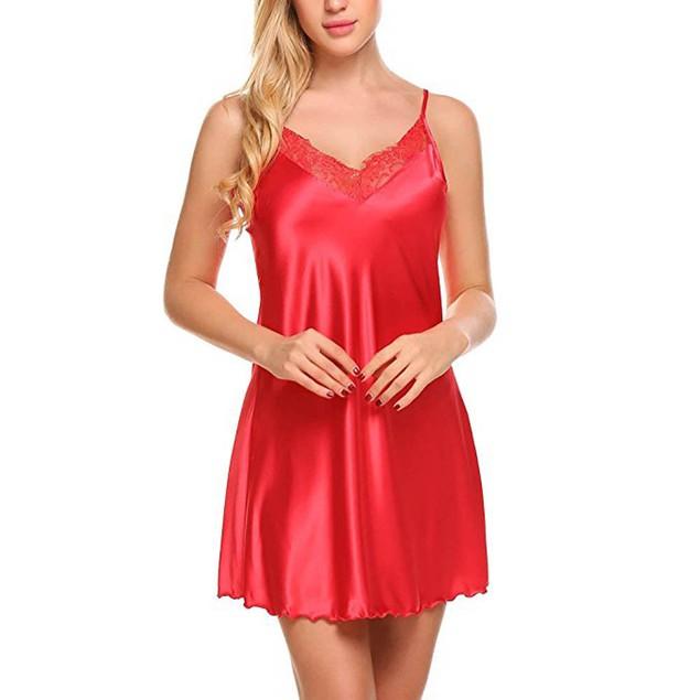 Women Lace Spice Lingerie G-String Strap Dress Sleepwear Underwear RD/XL