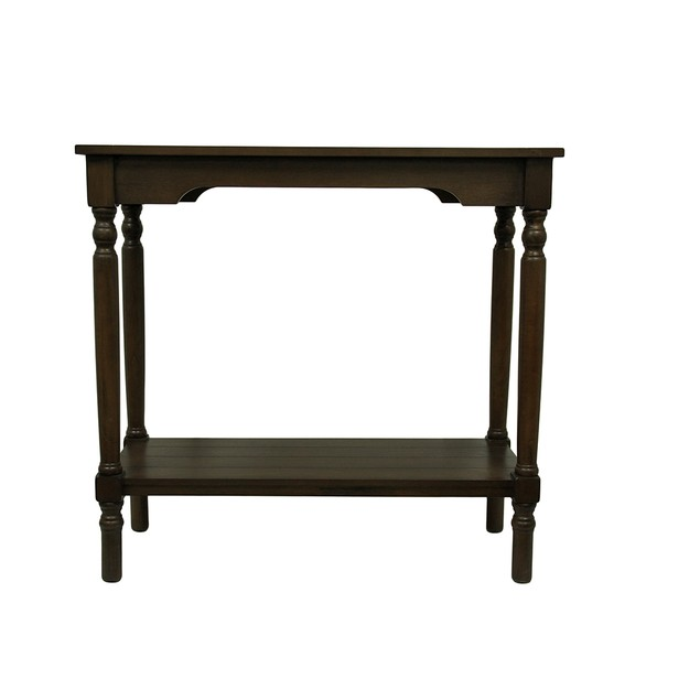 Warm Chocolate Brown Rectangular Spindle Leg Console Tables