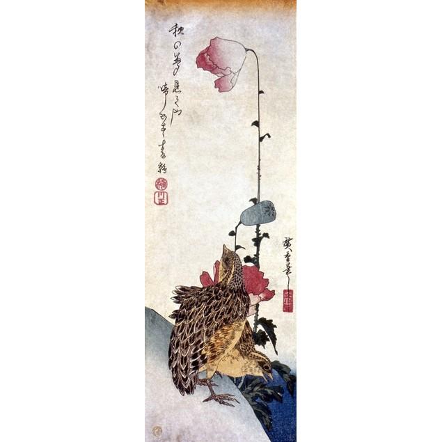 Hiroshige: Poppies. /Npoppies And Quail. Woodblock Print By Ando Hiroshige,