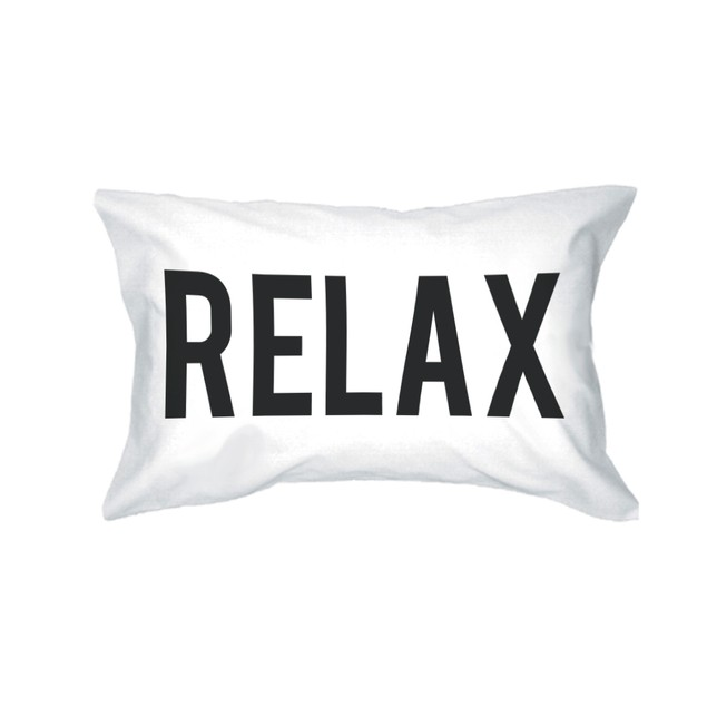 Girl Relax Bold Statement Pillowcases