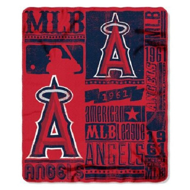 Los Angeles Angels MLB Northwest Fleece Throw